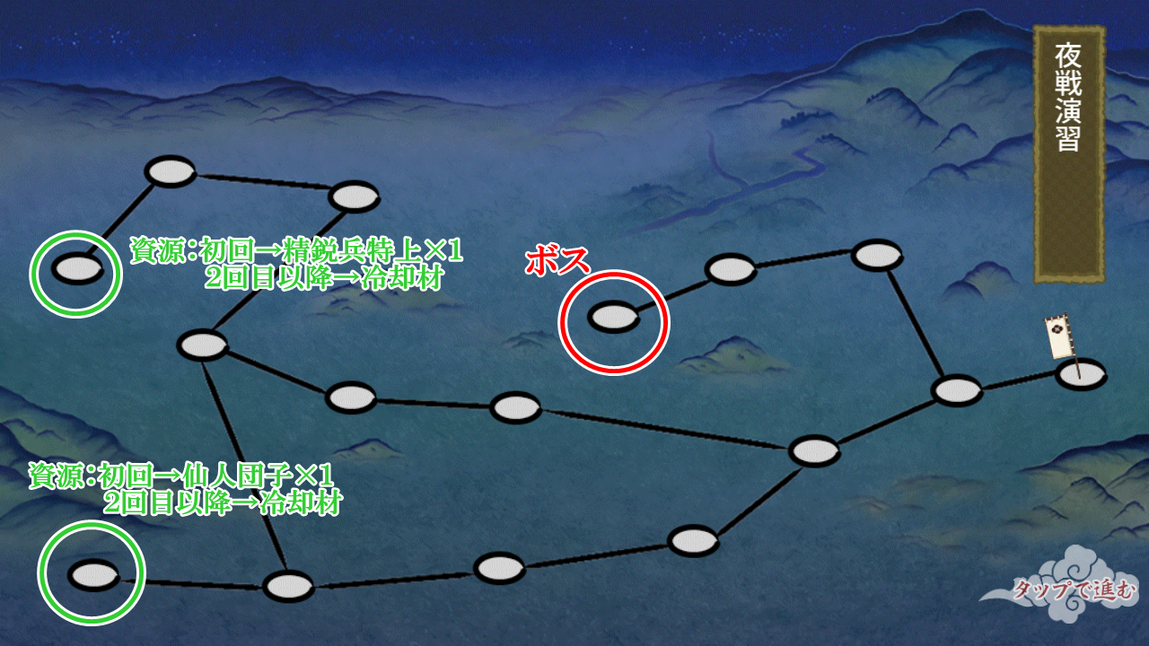夜戦演習マップ