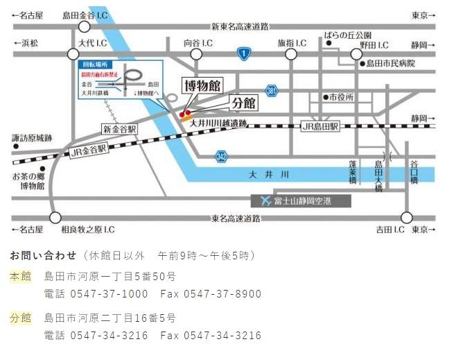 島田市博物館住所